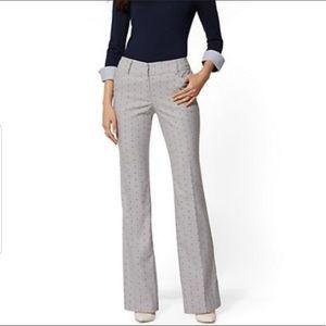 NY & Co 7th Avenue Polka Dot Pants 6 TALL